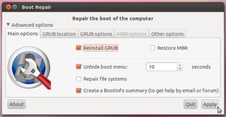 boot repair 2
